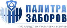 Забор из профнастила на ленточном фундаменте с кирпичными столбами 50 метров на заказ в Москве