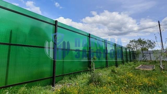 Забор из поликарбоната с утрамбовкой щебнем 100 метров в Москве