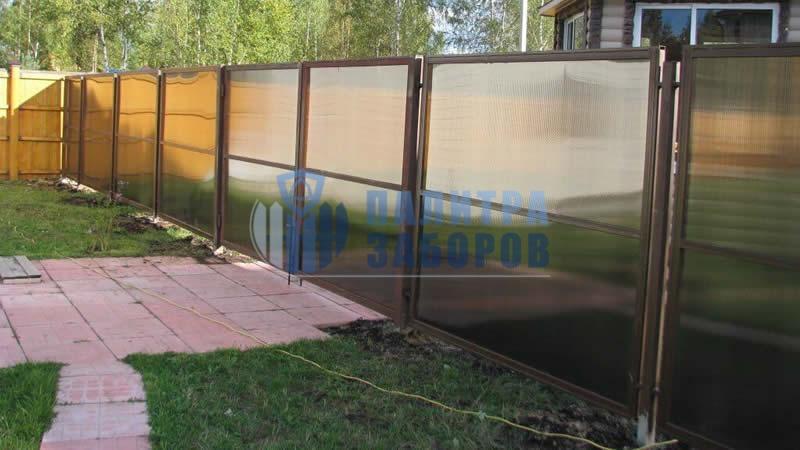 Забор из поликарбоната в секциях 150 метров