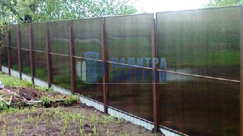 Забор из поликарбоната в секциях 80 метров