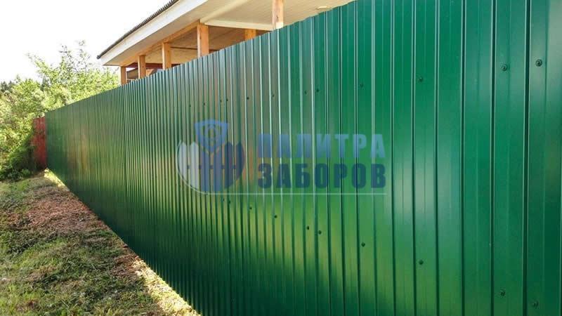 Забор из профнастила покрытие с двух сторон 100 метров