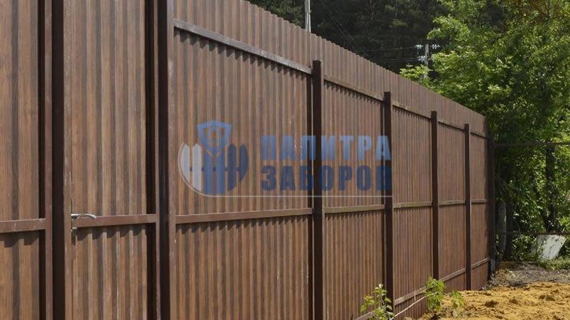 Забор из профнастила покрытие с двух сторон 10 соток