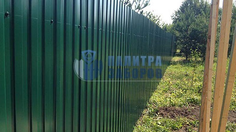 Забор из профнастила покрытие с двух сторон 12 соток