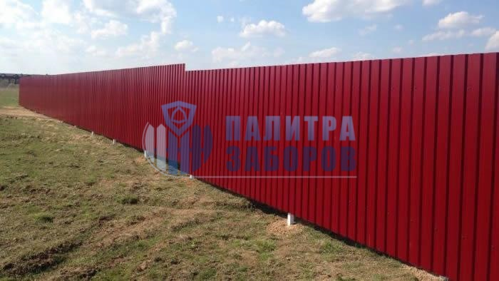 Забор из профнастила покрытие с двух сторон 150 метров