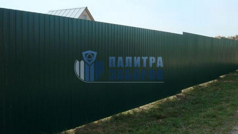 Забор из профнастила покрытие с двух сторон 200 метров