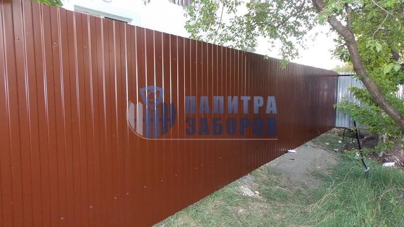 Забор из профнастила покрытие с двух сторон 8 соток