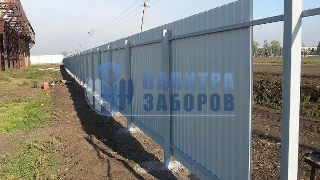 Забор из профнастила с бетонированием столбов 200 метров в Москве
